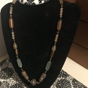 Murano Golden Glass Beaded Necklace - 250